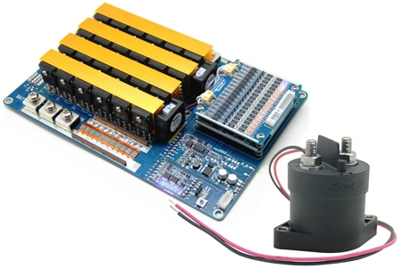 3S-96S (11.1V~307.2V) BMS with Relay, with SMBus,I2C/HDQ communication protocol for Li-ion and Li-Po