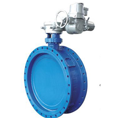 Double eccentric flanged butterfly valves