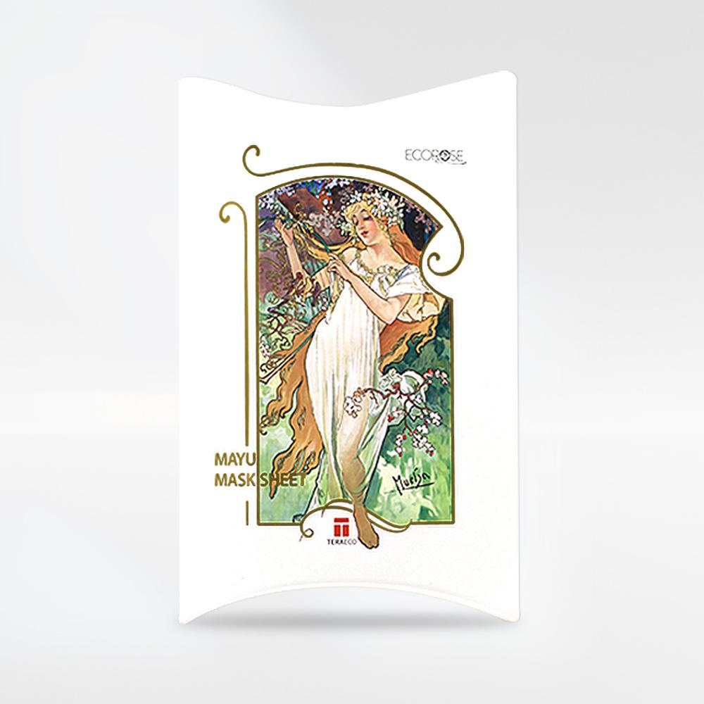 Mayu Mask Sheet with Mucha art
