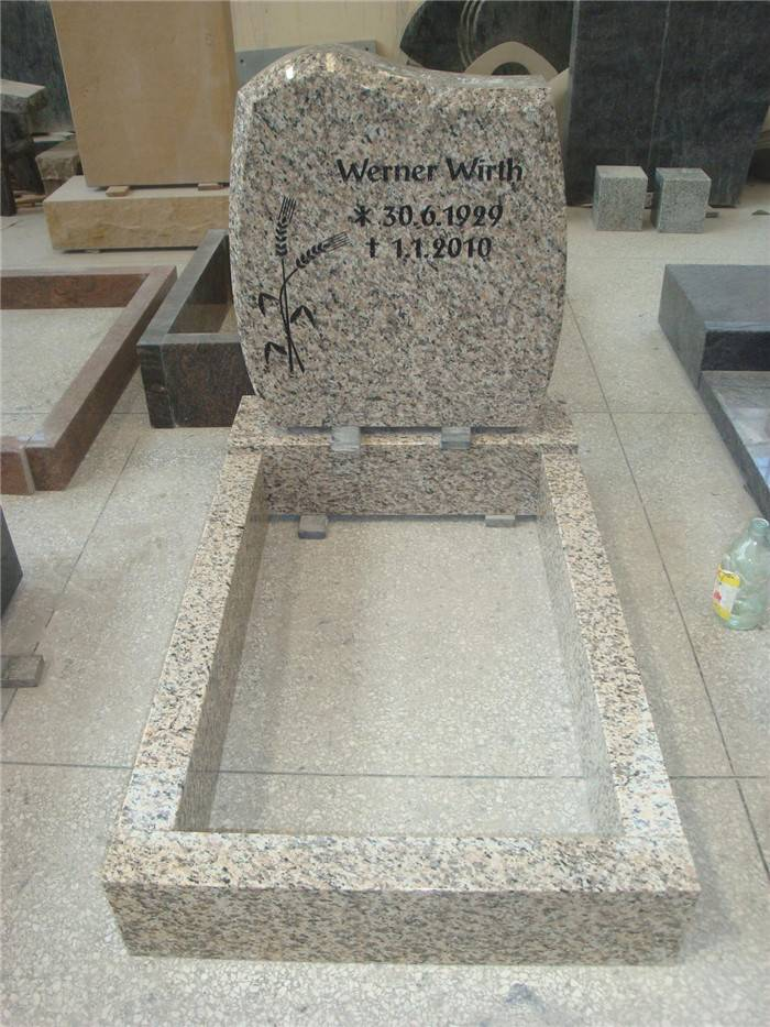 New design headstone granite monument with kerbs for European market