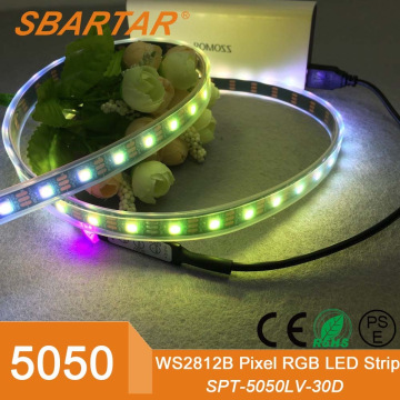 Hot sale 12V/24V SMD 5050 60lights/m RGB LED strip light
