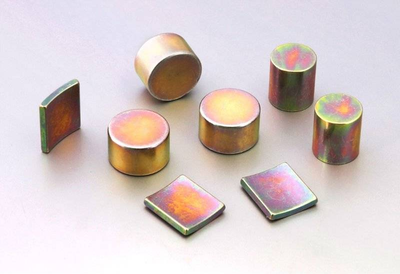colored Zn coating magnets