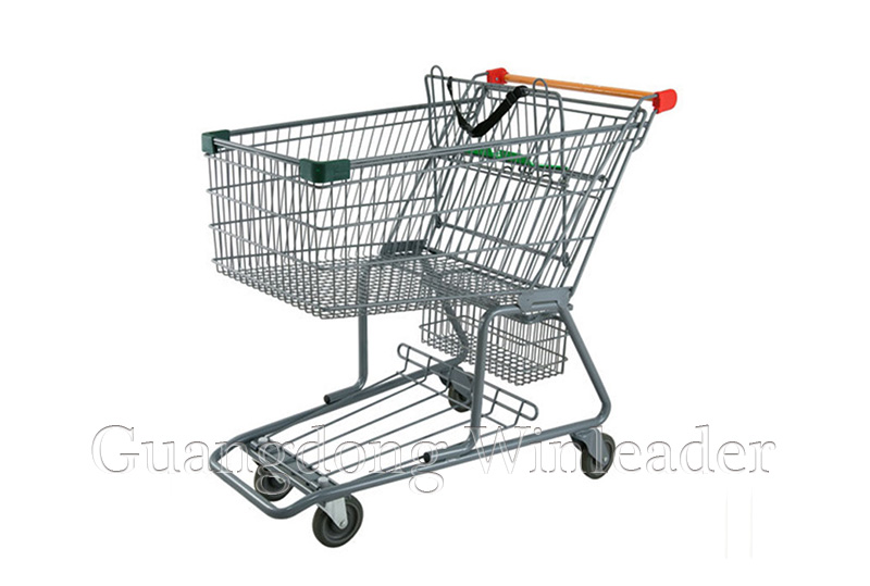 """YLD-CT190-1FB Canadian Style Shopping Trolley Canadian Style Shopping Cart,5""""PU Wheels Shopping Trol"""
