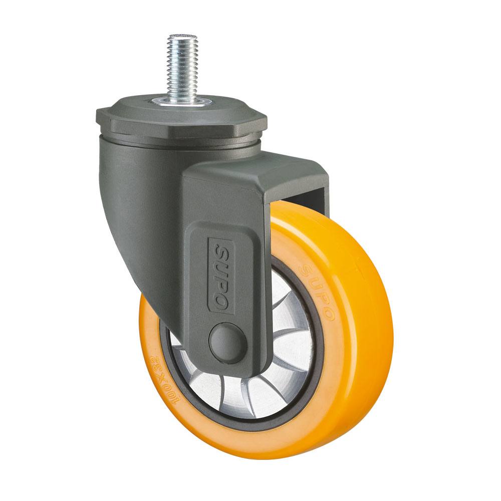 Threaded Stem Damp Proof Medium Light Duty Plastic Casters Wheels