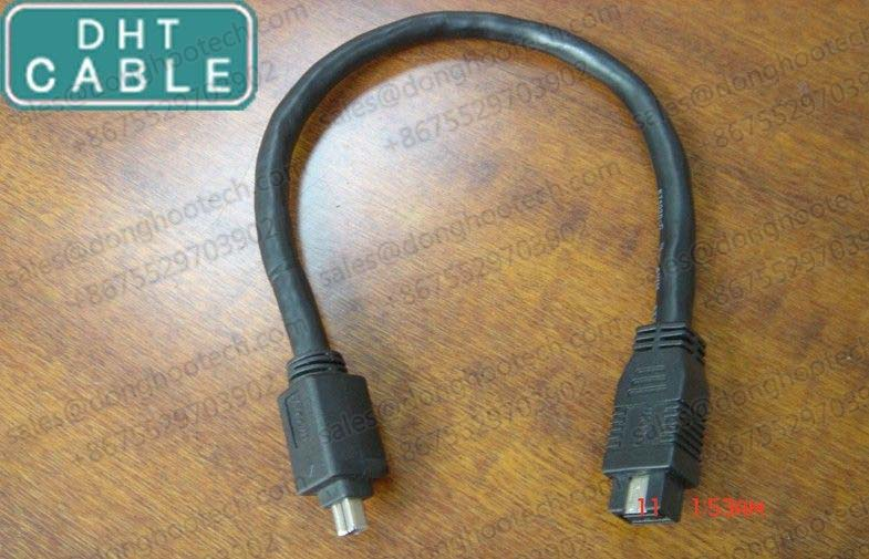 Chain Flex 9P / 4P IEEE 1394 Firewire Cable for Security Vision System 1394B to 1394A Male