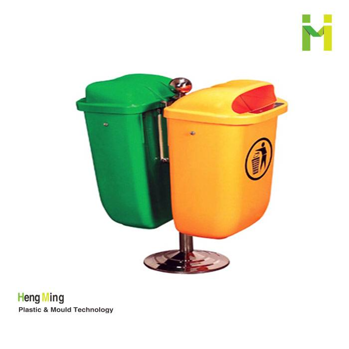50L two sides plastic garbage can