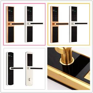 Security zinc alloy semi-conductor fingerprint door lock