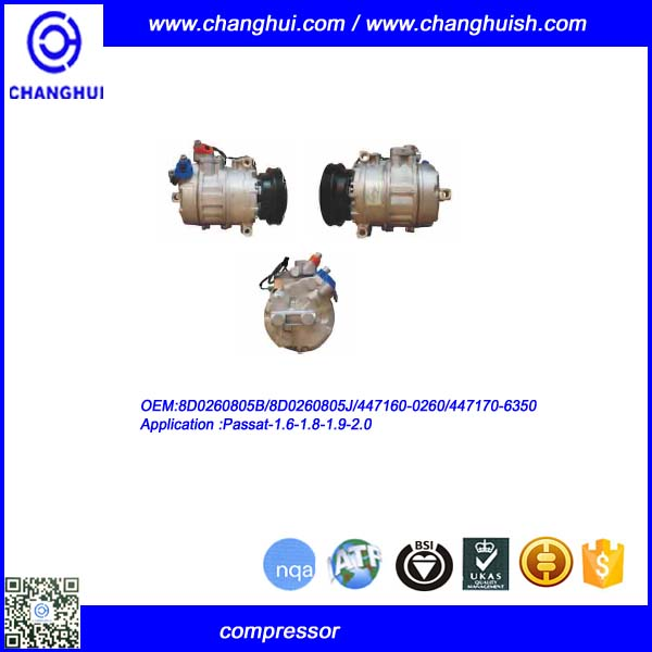 OEM 8D0260805B A/C COMPRESSOR FOR Passat-1.6-1.8-1.9-2.0