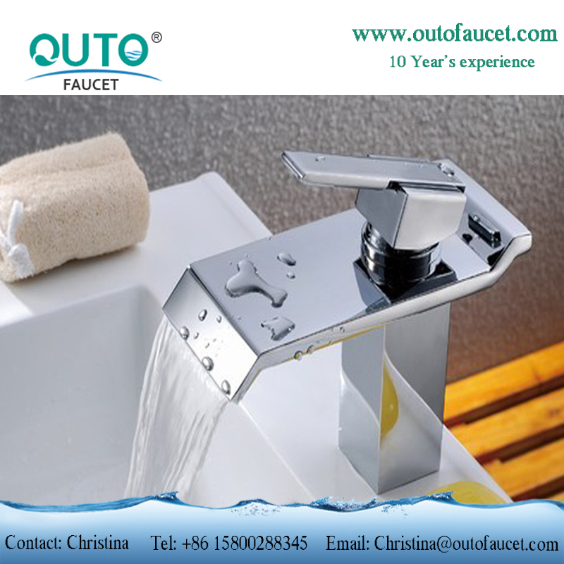 Luxury Square Bathroom Waterfall Faucet