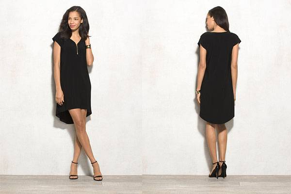 Ladies new design casual black shift dress