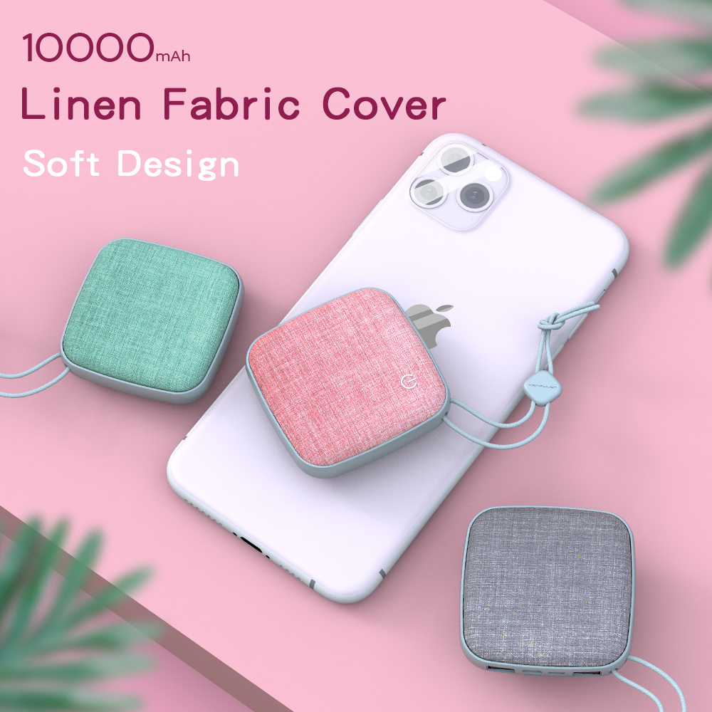 Konfulon Cute Portable Battery, 10000mAh Mobile Power Bank Fast Battery Charger Pack Compatible iPho