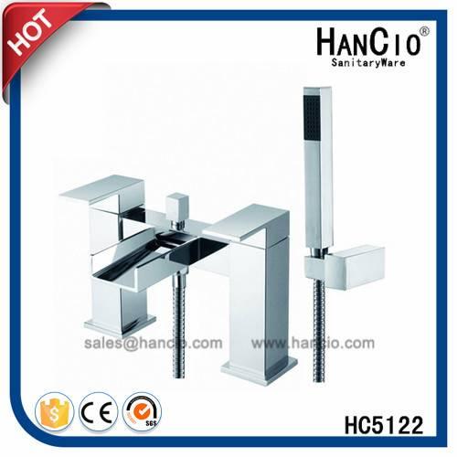 Deck Mounted Twin Bathroom Faucet Bath Shower (HC5112)