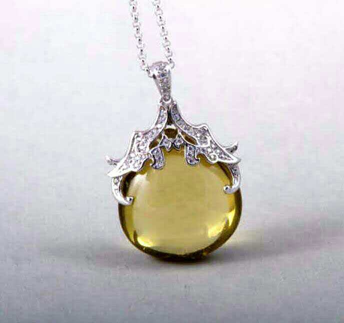 Luxurious Stone Pendant Necklace Semiprecious Stone Charm Pendant Necklace