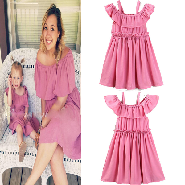 Fashion mom and baby clothes Hot sale mom and baby dresses