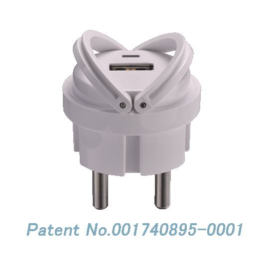EU 2 pin Mini Wall charger Travel charger USB power adapter mains charger adapter ELP01  5V1A