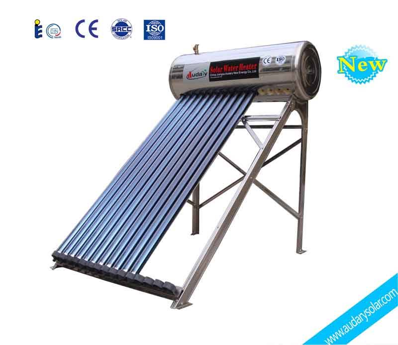 compact stainless steel solar water heater
