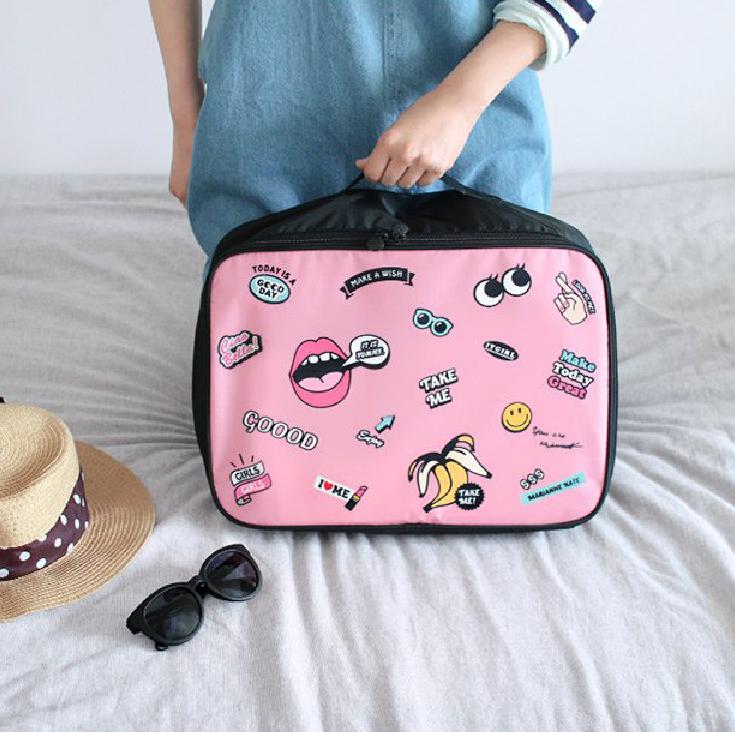 2018 New Style Cute Travel handle bag zipper handbag for girl