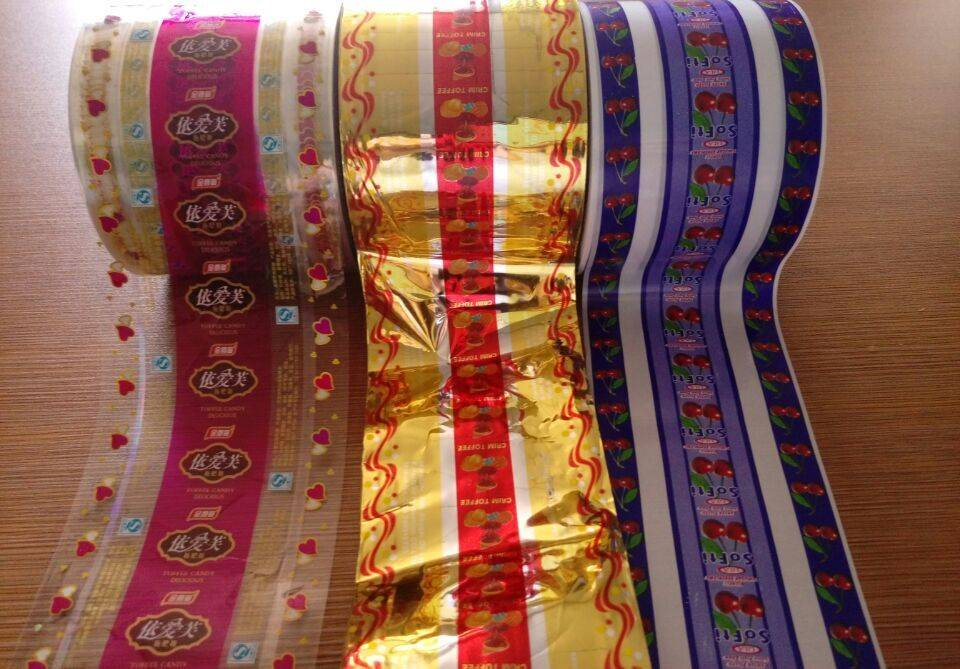 plastic printed roll stock twist film for candy packaging
