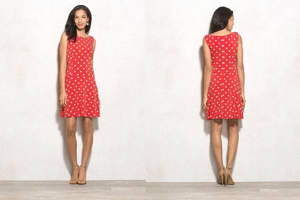 Ladies printed dot pattern tank short prom dress