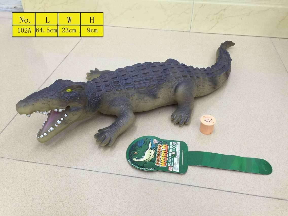 PVC vinyl Crocodie model toys with sound stuffed cotton environmental material En71 high simulatio