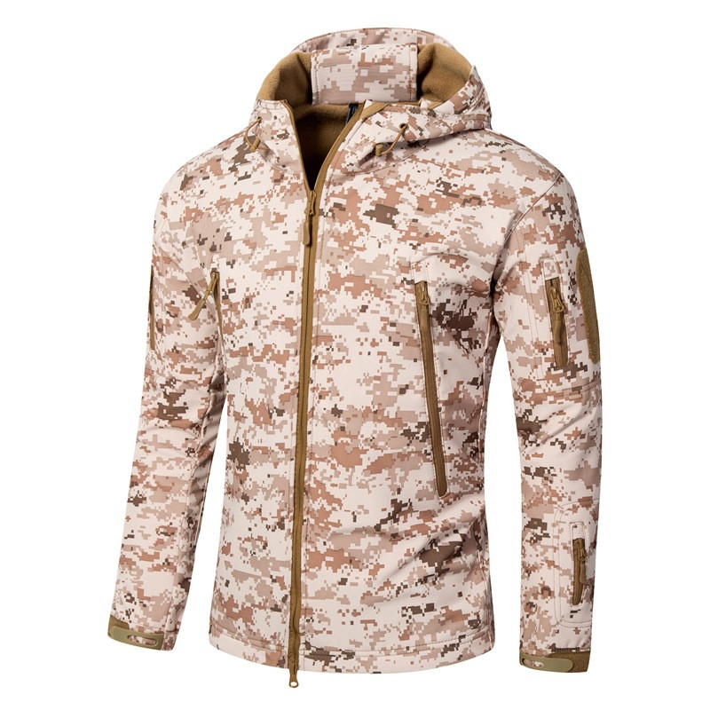 TAD shark skin soft shell men's jacket in winter for outdoor sport Outdoor Military Tactical Jacket