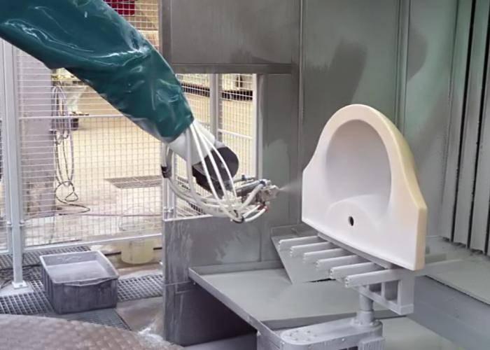 D Oriental DOT-SA1C1 Robot spray on Ceramics BATHROOM FIXTURES GLAZING, pottery