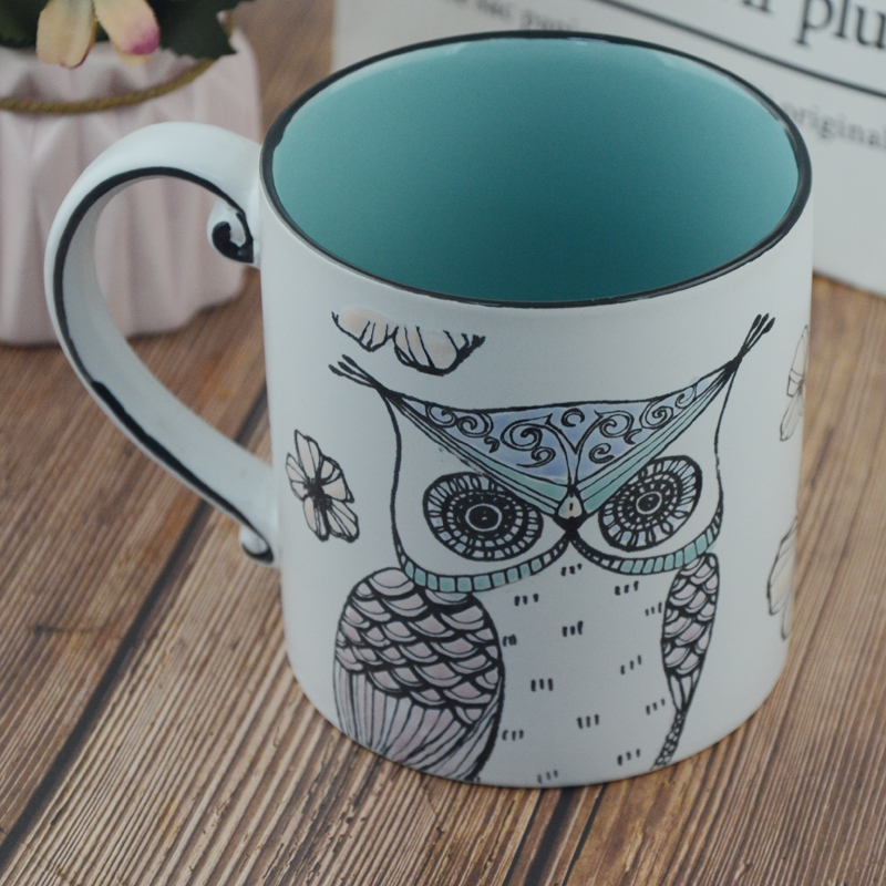 OEM ceramic mug with printing logo