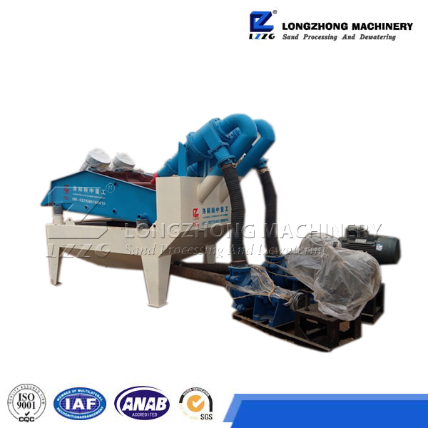 recycle fine sand device from glass aggregate in sand recycling system