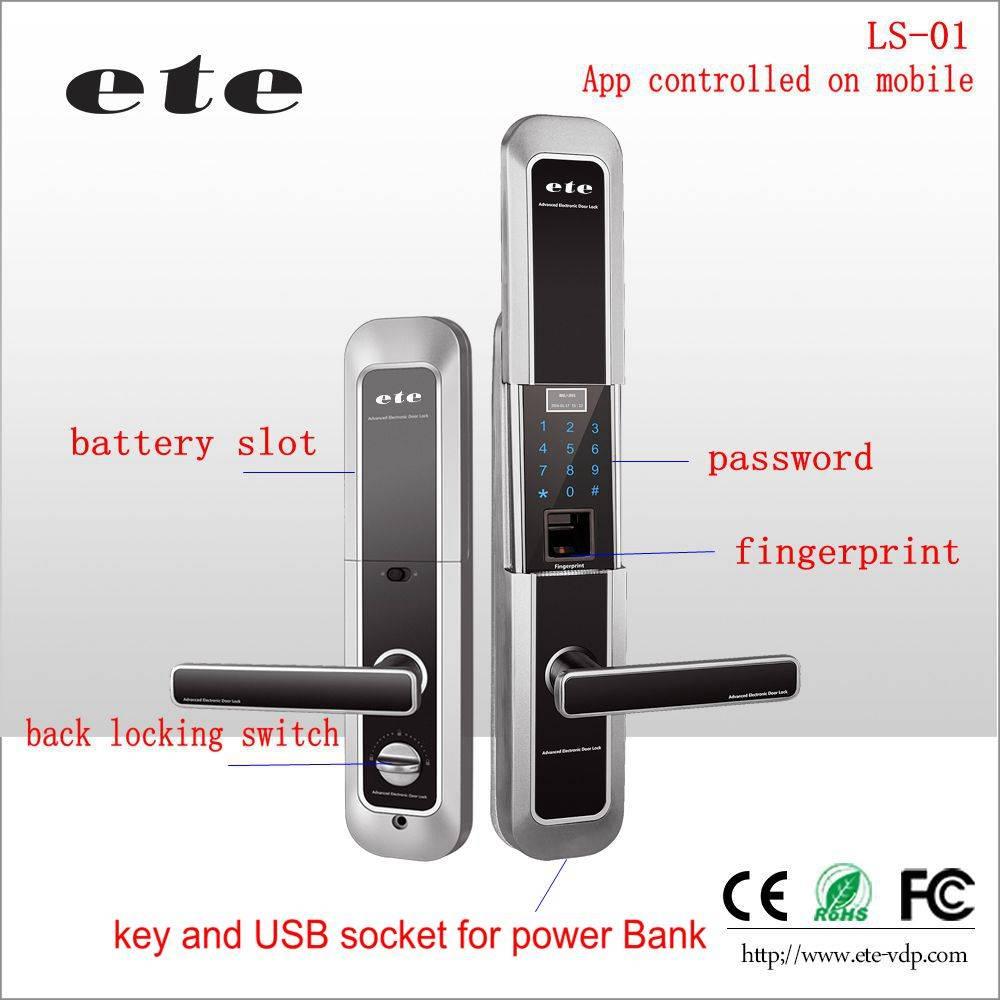 Wifi ZIGBEE App control / password / fingerprint mechanical outdoor keypad door lock