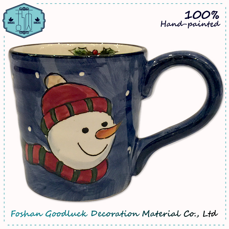 Graceful Hand Crafed Ceramic Mixing Decorated Christmas Cup