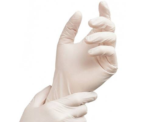 AQL1.5 disposable latex gloves hospital using power free