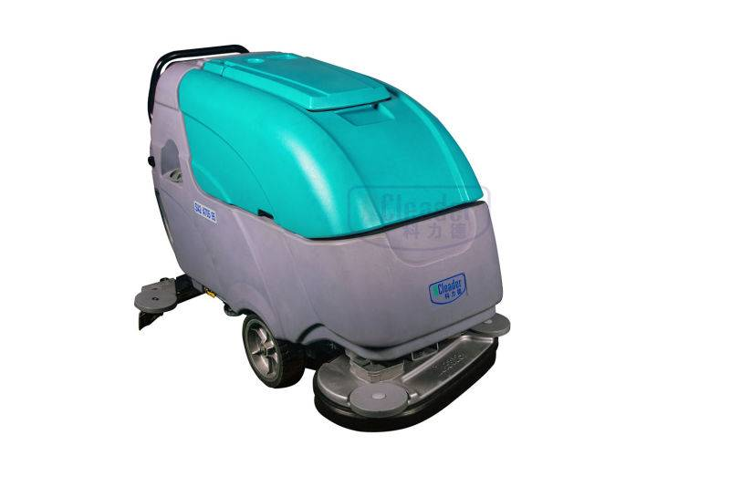 dual brush electric hand push floor scrubber