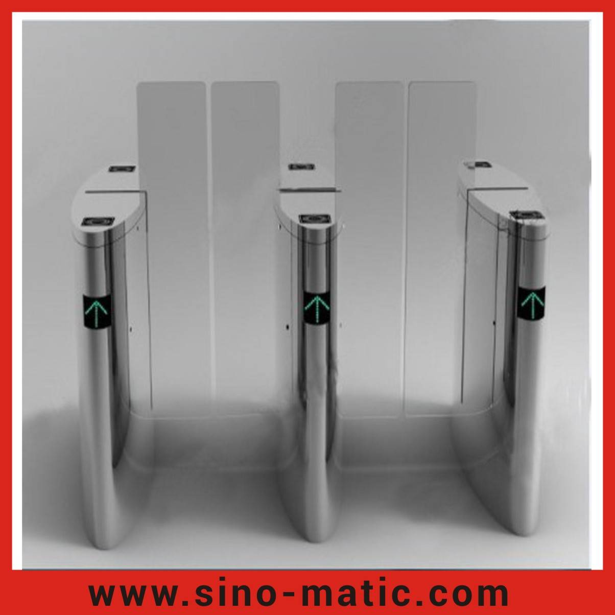 Stainless Steel Pedestriam RFID Reader Access Control Sliding Barrier