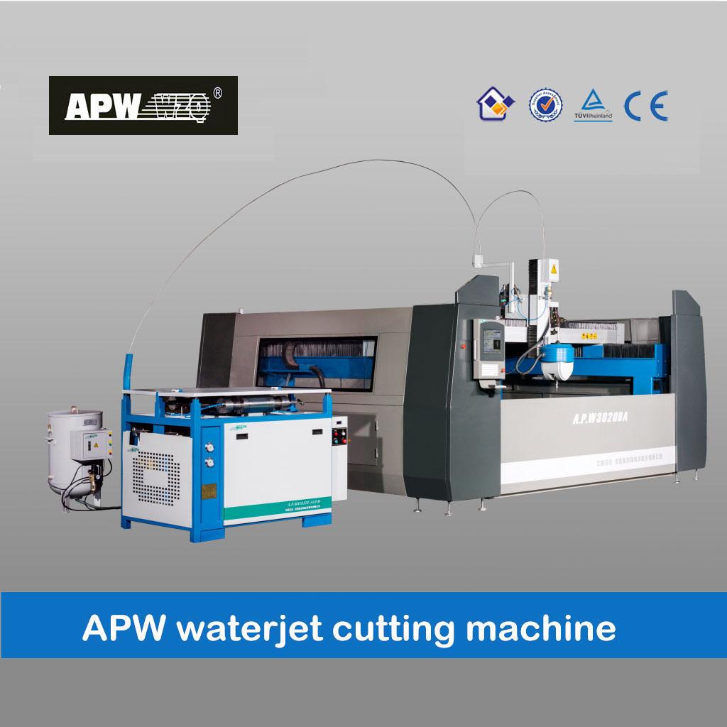 APW Dust free enclosed waterjet cutting machine