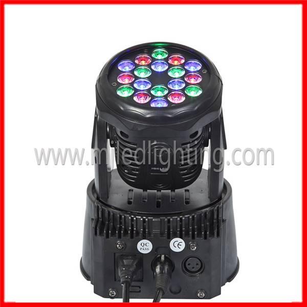 18pcs 3w rgb mini led moving head light