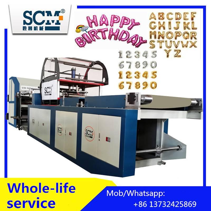 Birthday party balloon molding machine/foil helium balloon making machine