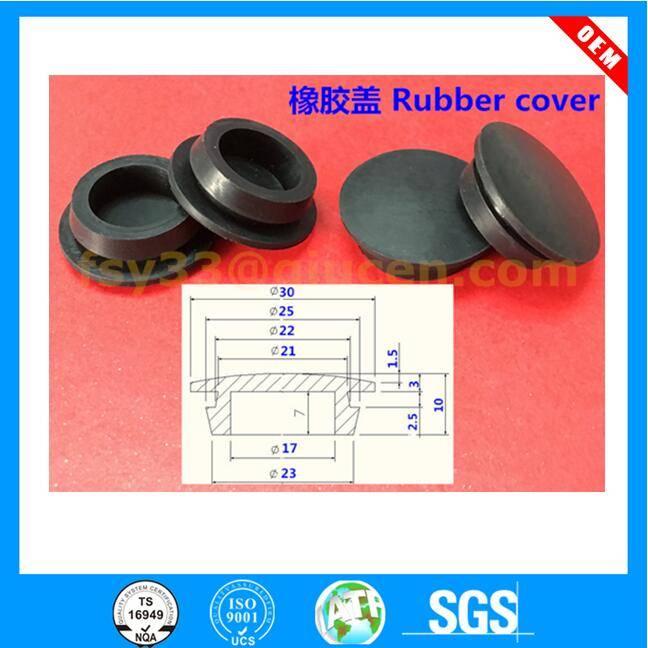Custom molded oil resistant rubber stopper sizes Disposal stopper