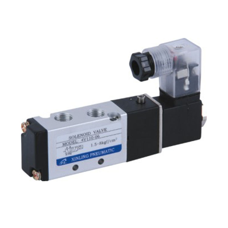 Ningbo Solenoid Directional Control Valve Air Gas Single Coil Solenoid Valve 4V110-06