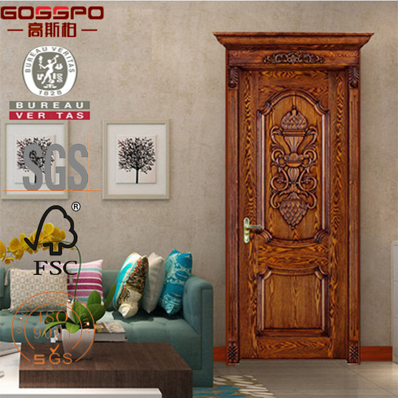 Apartment Mahogany Wooden Front Door Design