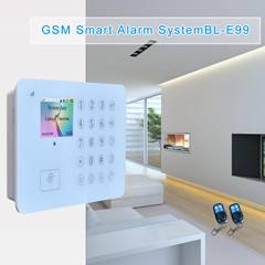 wireless GSM alarm system with 2 wired zones and 88 wireless zone support RFID card