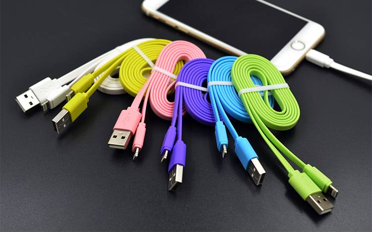 Qwire PX-16 flat data cable/wire for iphone/ipad/ipod