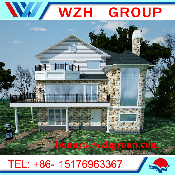 Prefabricated house with morden design , Steel villa house