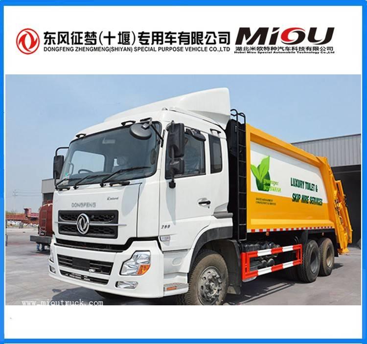 China garbage truck 6X4 20 CBM capacity of garbage truck