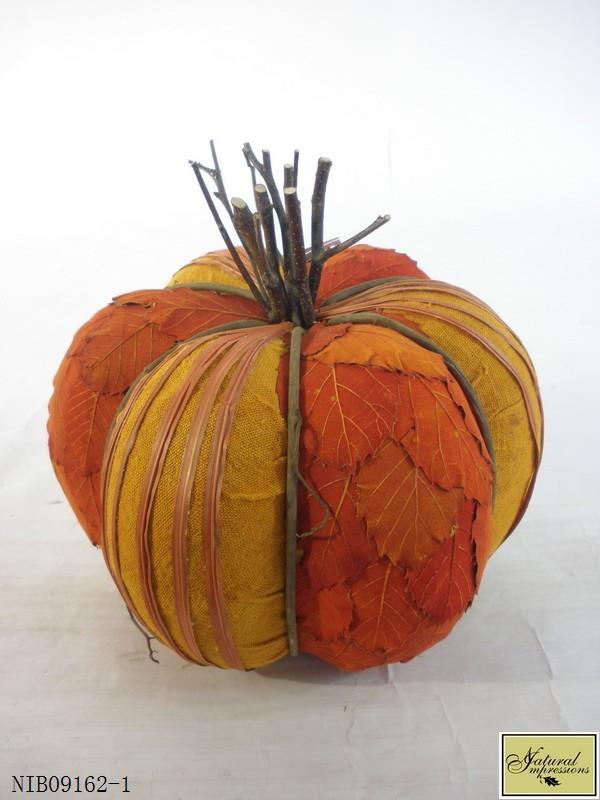 Orange harvest pumplin fall decoration