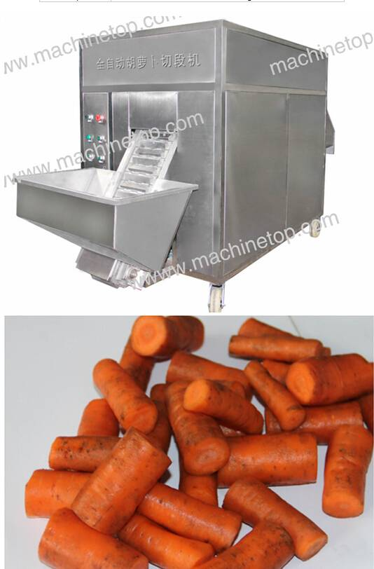 Automatic carrot root and section cutting machine/cutting carrot machine/carrot dicing machine