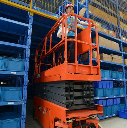 Scissor Lift Man Lift with 6m Platform Height with Heavy 550kg Load Capacity