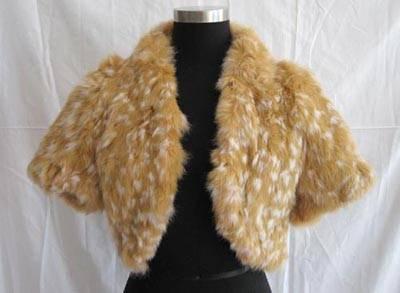 tongchem rabbit fur coat