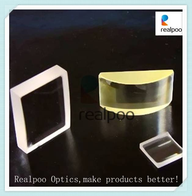 Optical cylindrical lens with coating