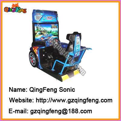 Simulator racing games machine