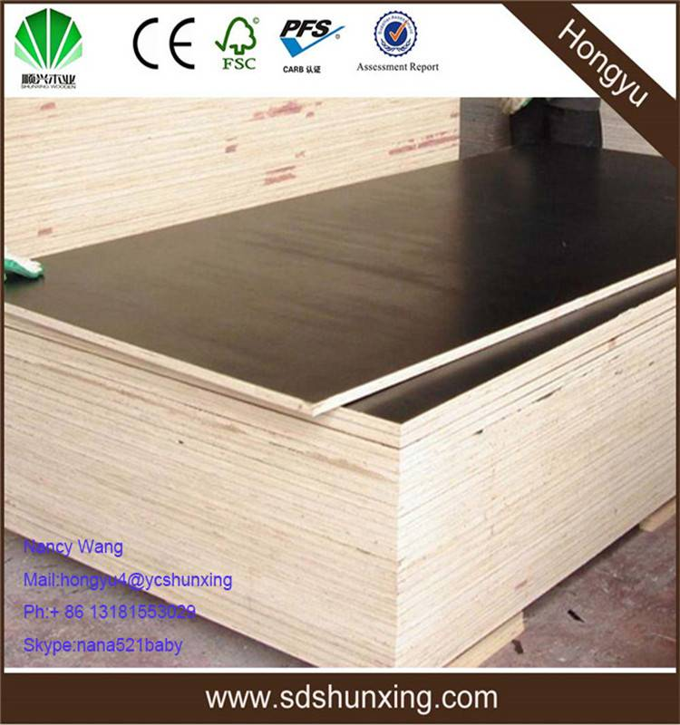 3ftx6ft film faced shuttering plywood
